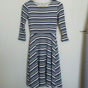 Modcloth retro style striped XXS dress